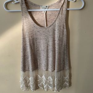Tank top with embroidery